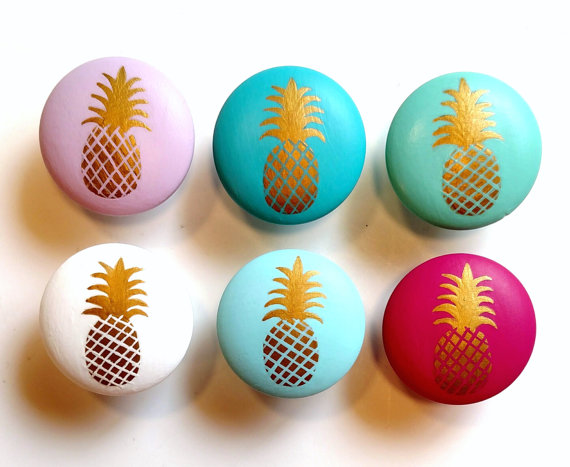 etsy drawer pulls and knobs with pineapples