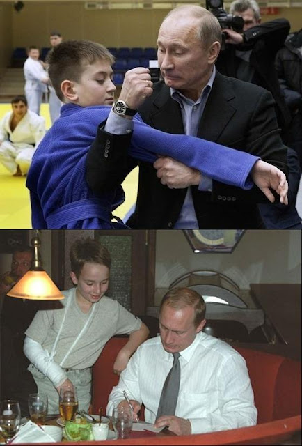 Niño judoka se enfrenta a Putin