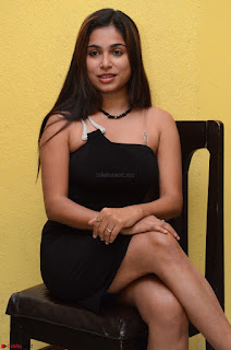 Vrushali Gosavi in strapless Short Black Dress At Follow Follow U Audio Launch 018.JPG