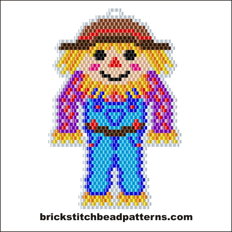 Brick Stitch Bead Patterns Journal Boy Scarecrow Free Fall Brick
