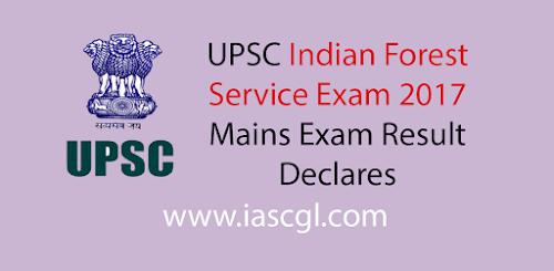 UPSC IFS Result 2017