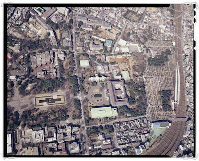 Photographie aérienne du Musée National de Tôkyô