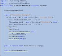 Java JCheckBox