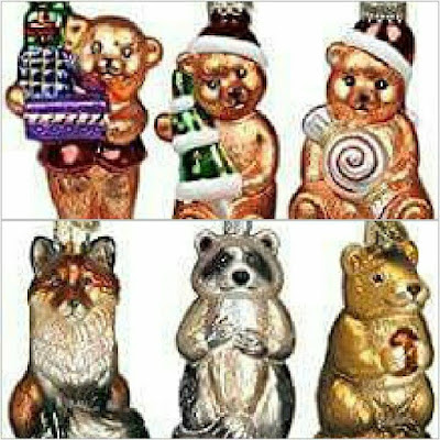 Glass Christmas tree figurines