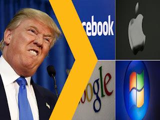 Facebook-google-apple-microsoft-contra-el-Presidente-Donald-Trump