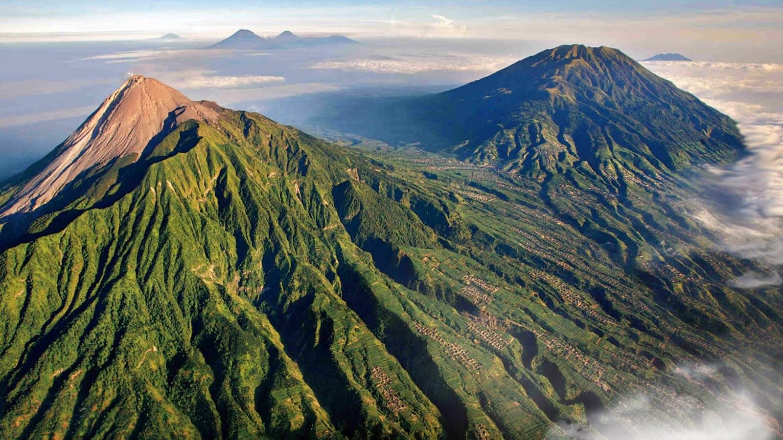 Kontur Gunung Slamet dan