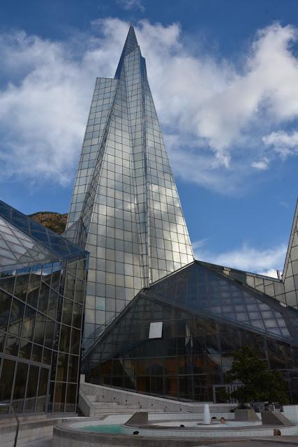 Caldea Andorra glass pyramid