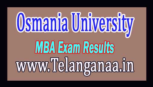 Osmania University OU MBA 2nd Sem Exam Results 2016