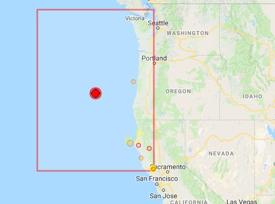Earthquake Prediction: 6 2R off the coast of Oregon
