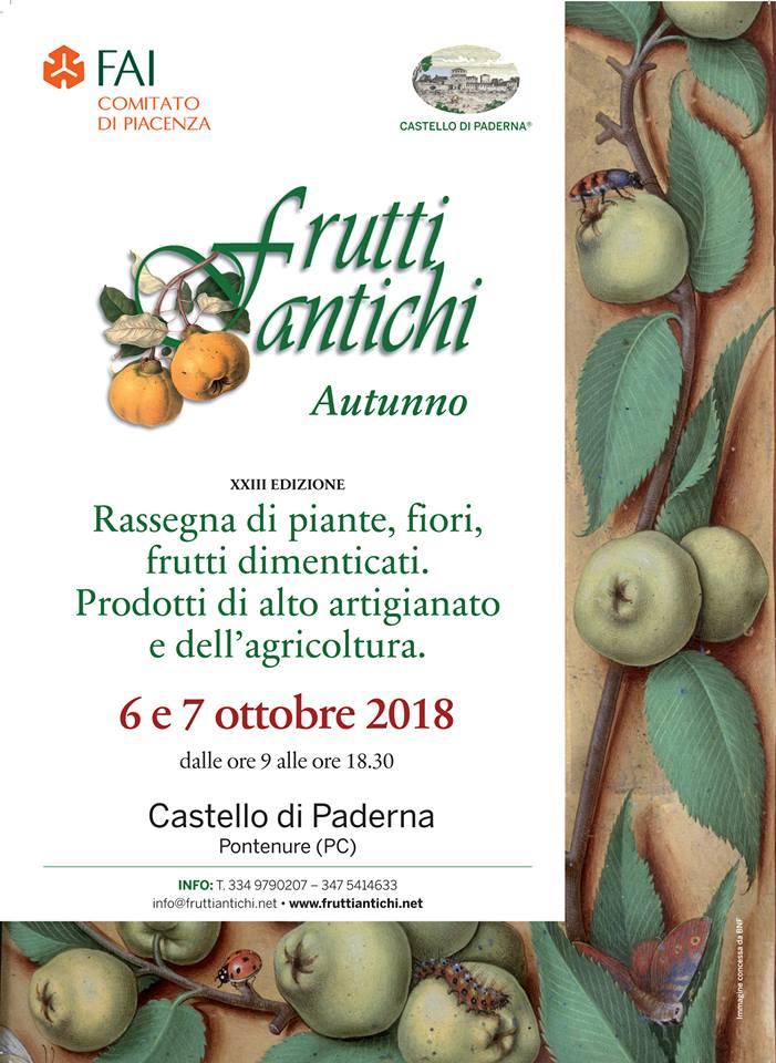 frutti antichi ottobre