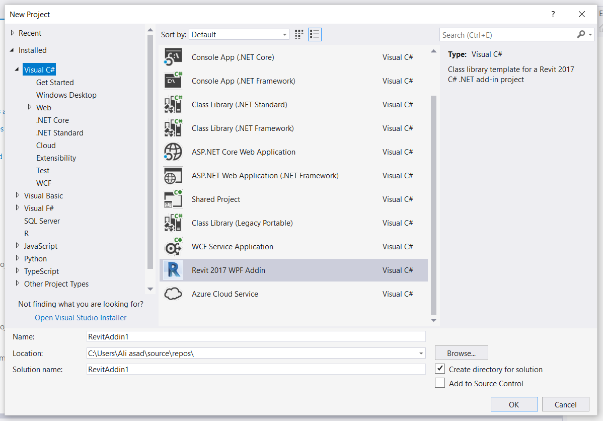 Revit Add-Ons: Free Visual Studio Revit Add-in Template (WPF)