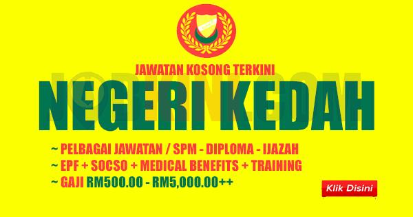 Jawatan Kosong Terkini Di Negeri Kedah