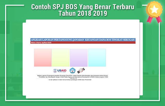 Contoh SPJ BOS Yang Benar Terbaru Tahun 2018 2019