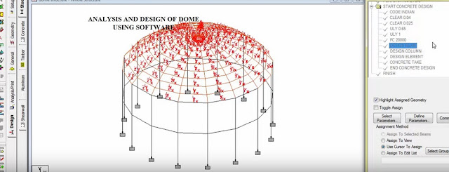 ANALYSIS AND DESIGN OF DOME USING SOFTWARE