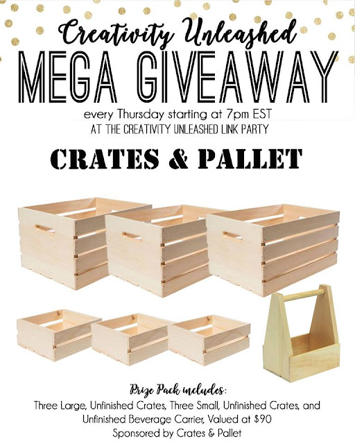 Crates and Pallet Giveaway and Creativity Unleashed #189  MyLove2Create