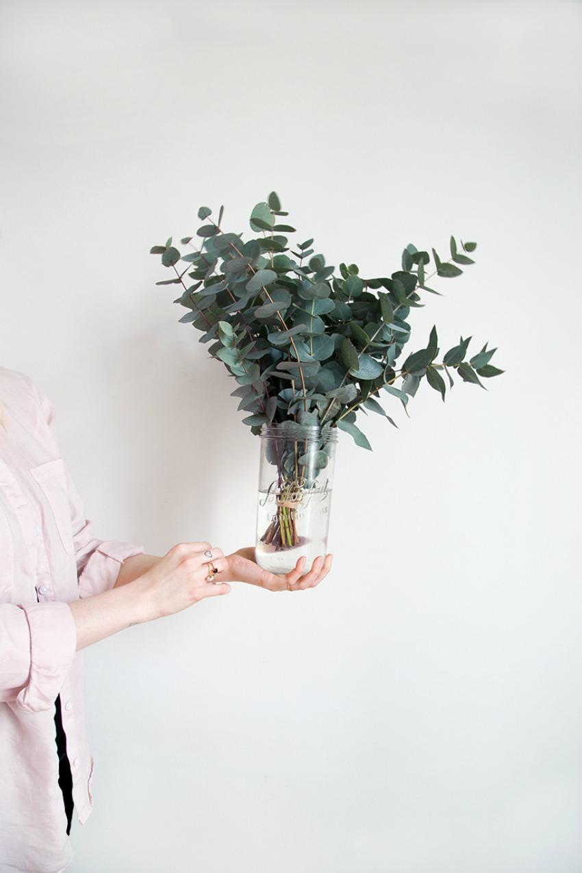 decoración con eucalipto 1