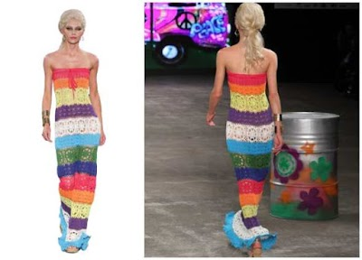 Vestido Maxi multicolor sin tirantes crochet