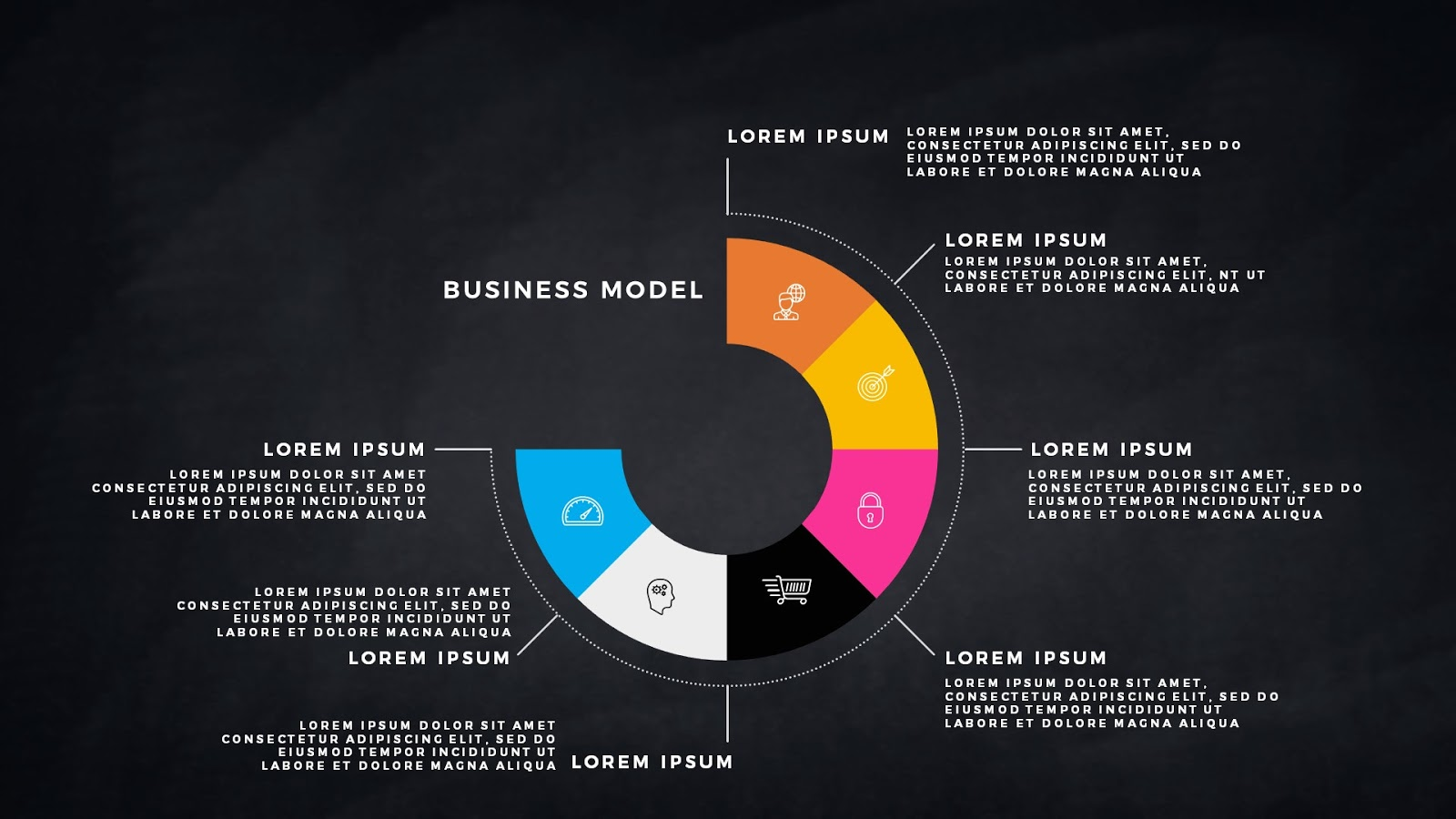 infographic business model presentation for powerpoint template, Powerpoint templates