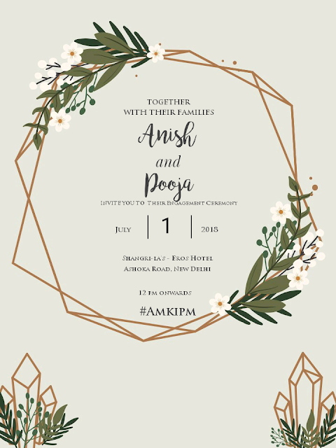 How to make Invitation for free!, free engagement invitation card templates, free template for engegement, forest themed invitation card, pooja mittal, amkipm, weddings, 10 Wearable Fashion Trends 2016, beauty , fashion,beauty and fashion,beauty blog, fashion blog , indian beauty blog,indian fashion blog, beauty and fashion blog, indian beauty and fashion blog, indian bloggers, indian beauty bloggers, indian fashion bloggers,indian bloggers online, top 10 indian bloggers, top indian bloggers,top 10 fashion bloggers, indian bloggers on blogspot,home remedies, how to
