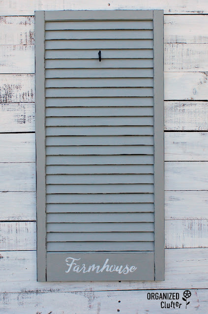 Garage Sale Window Shutter Repurpose