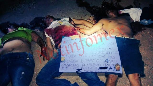 Con tres ejecutados y un mensaje los Zetas declaran la guerra al Cartel Jalisco Nueva Generación