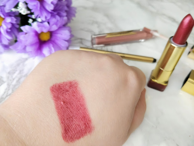 Swatch of Max Factor Colour Elixir Lipstick in Mulberry
