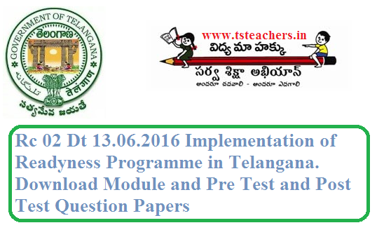 Rc 02 Readyness Programme-2016 in Telangana Schools Complete Information