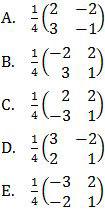 Opsi invers matriks dari matriks C, Matematika UN 2017