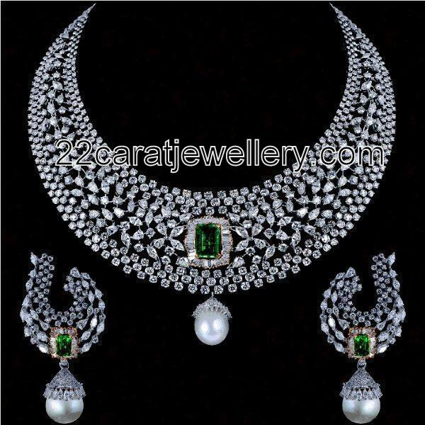 Diamond Heavy Bridal Sets Gallery Jewellery Designs