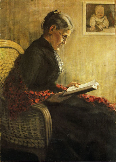 Franz Marc, portrait of his mother, 1902