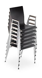 Scaun vizitator conferinte Cadeira 4L-Arm Plus foldabil