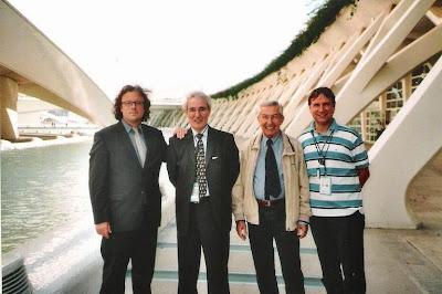 José Antonio Garzón Roger, José María Gutiérrez Dopino, Alessandro Sanvito y el Dr. Ulrich Schädler en 2009 en Valencia