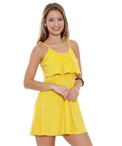 Moda Marisa Vestido Feminino Alças Finas Estampa Floral