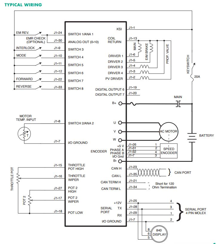 Smart Roadster  Conversion to electric car: Schematic