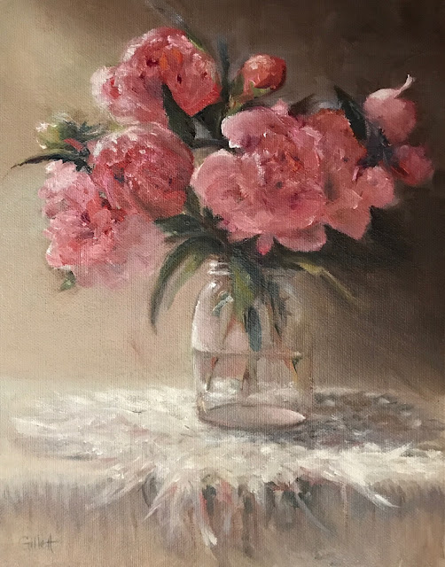 Jar of Peonies