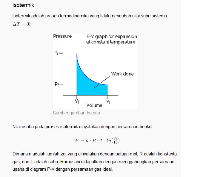 Termodinamika ada dua hal penting yang harus diingat dari berbagai jenis proses proses termodinamika yaitu variabel yang berubah dan usaha yang dilakukan ccuart Gallery