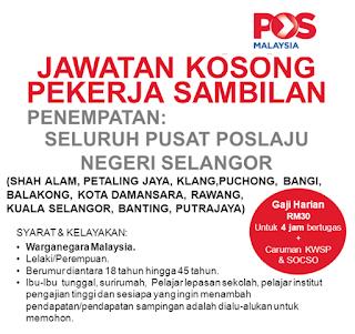 Part Time Pos Laju Selangor Terkini