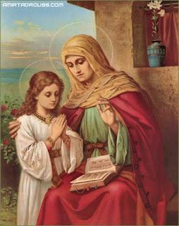 القديسة حنة والدة العذراء مريم