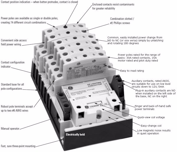 Lighting Contactor Wiring Diagram | Elec Eng World