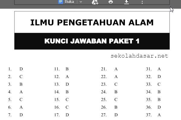 Soal Soal Prediksi Latihan Ujian Nasional Un Sd Mi Amp Kunci Jawaban Mapel Bahasa Indonesia