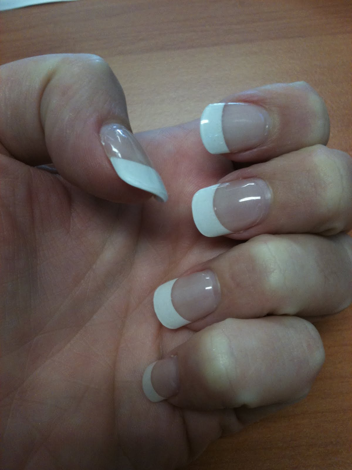 Mssparklearkle French Manicure With Gel Nails