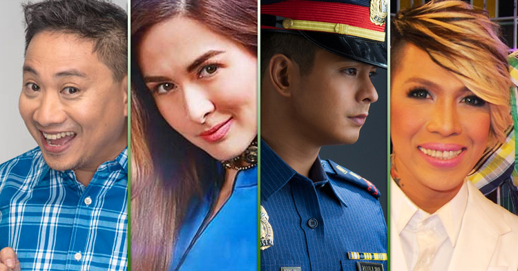 Michael V., Marian Rivera, Coco Martin and Vice Ganda.