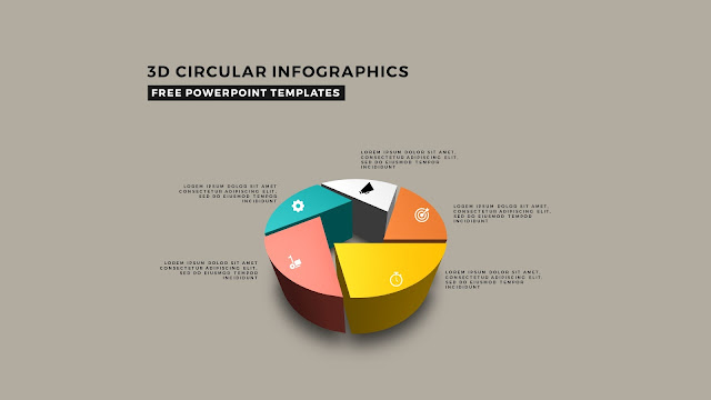 3D Circular Infographic Free PowerPoint Template Slide 10