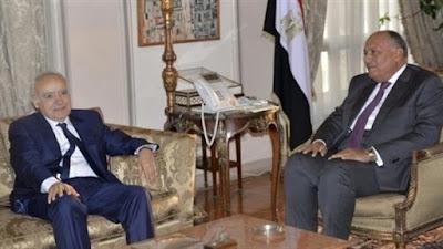 وزير الخارجية المصري, ليبيا, سامح شكري, غسان سلامة,