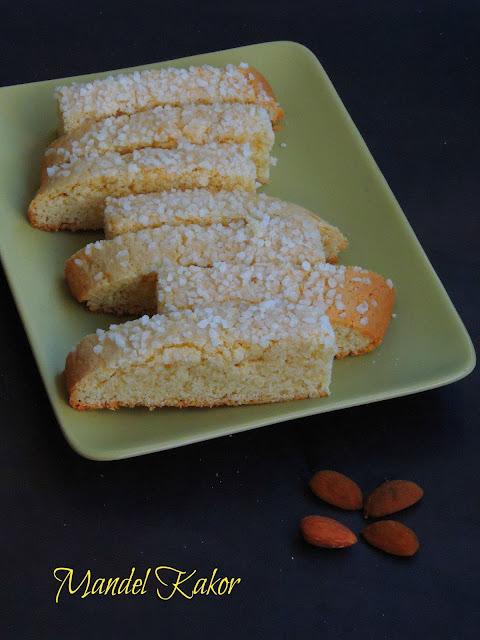 Mandel Kakor, Swedish Butter cookies