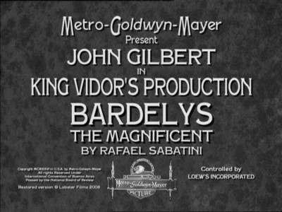 Bardelys The Magnificent movieloversreviews.filminspector.com 1926  title card
