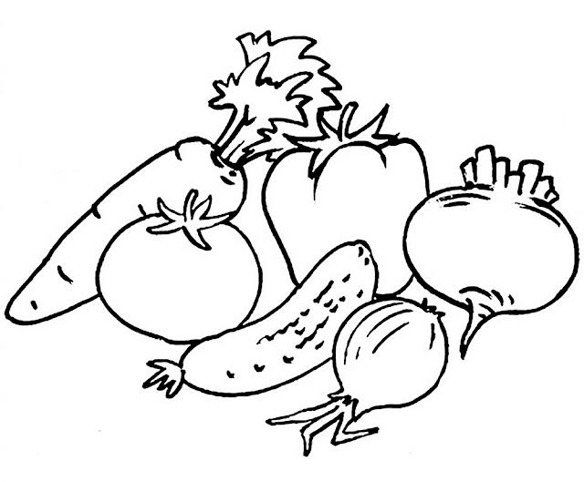 Gambar Mewarnai Sayuran - 2