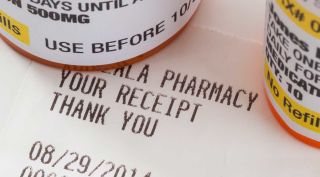 Rx pharmacy receipt