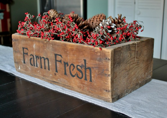 Vintage Charm Party 16 mythriftstoreaddiction.blogspot.com Diana's Farm Fresh Wooden Crate