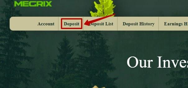 Создание депозита в Megrix